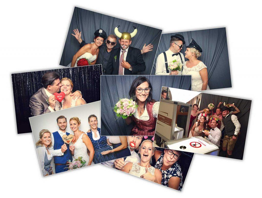 Hochzeit-Fotobox-Fotosammlung