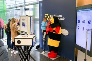 Making-of Firmenevent Fotobox Raiffeisenbank
