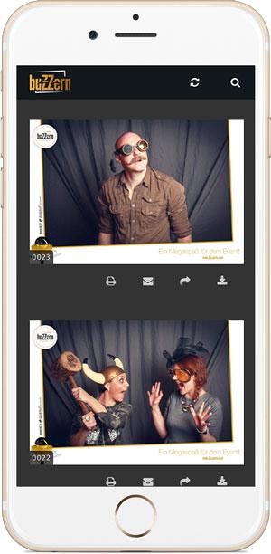 Smartphone Foto-Livestream